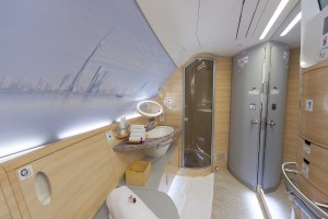 2. On Board shower at EMIRATES