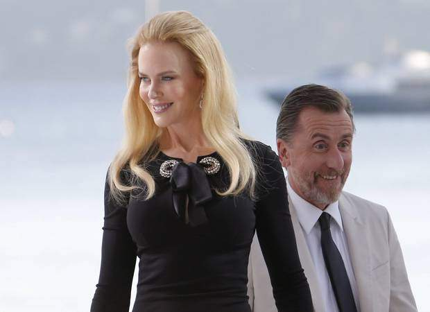Nicole Kidman with her co-star Tim Roth