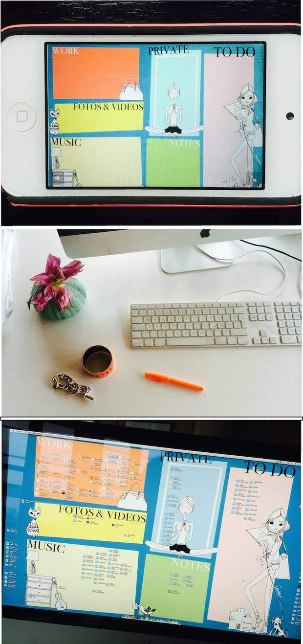 Whether it's on my computer or my phone, keeping my files organized is essential for creative freedom; a tidy, organized desk lets me focus on more important things in life; color-coded categories make organizing a snap and actually fun.