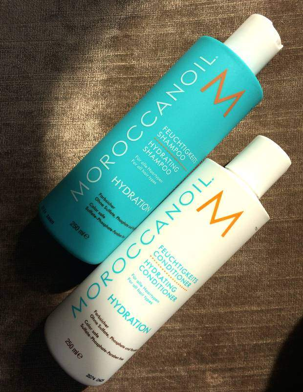 Hydrating shampoo and conditioner from Moroccanoil - this is the set you can win.