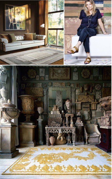 Interior by David Rockwell with a carpet from the Rug Company, Suzanne Sharp, co-founder and Creative Director of THE RUG COMPANY, a perfect match, Alexander McQueen for THE RUG COMPANY