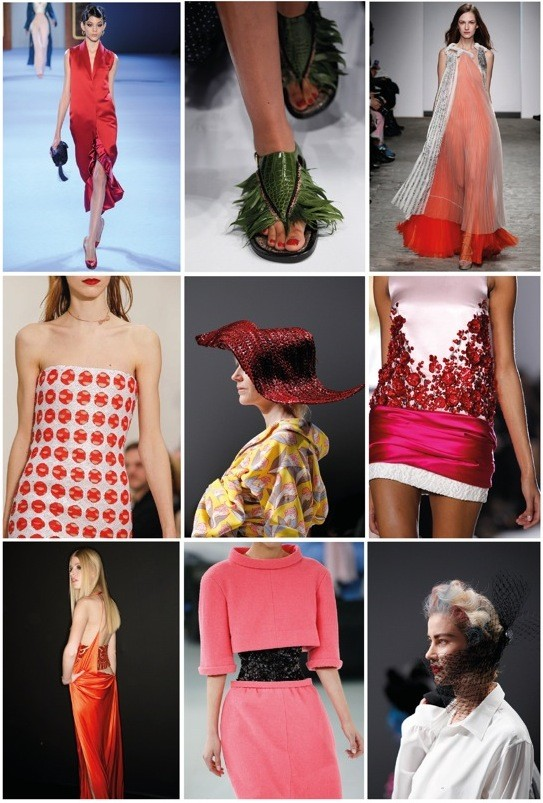 From top left to bottom right: Ulyana Sergeenko, Schiaparelli, Vionnet Haute Couture, Christian Dior, Schiaparelli, Giambattista Valli, Atelier Versace, Chanel, Schiaparelli