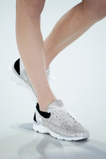 Sneakers were everywhere (sneakers by Chanel)