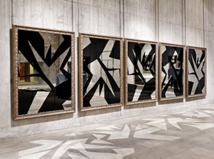 A mirror installation by artist Michelangelo Pistoletto