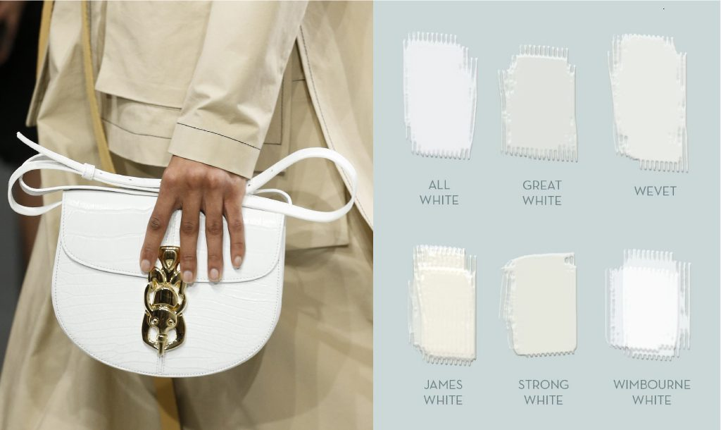 White Strap Bag By Loewe And Diffe Kinds Of Paint Farrow Ball