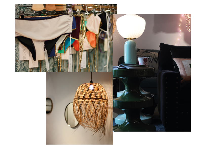 More favourites of their bikini, furniture and lamp collection at Comptoire 102, stool by India Mahdavi