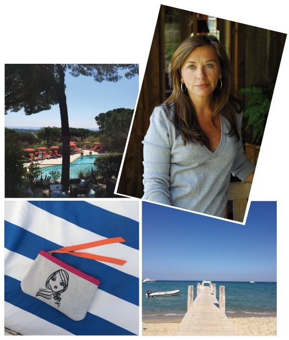 Madame Joceline Sibuet has created a hotel which feels like home. Like all their very unique getaways the Villa Marie makes you feel at someones home rather than a hotel, it has all the comfort and chic effortlesness  which lets you bring home with you the nicest holiday memories. The IRMA Pouch (now available at www.lodenfrey.com accompanied us on our stay in St. Tropez).