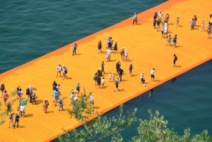Christo's Floating Piers on Lake Iseo. © Claudia Hellmann