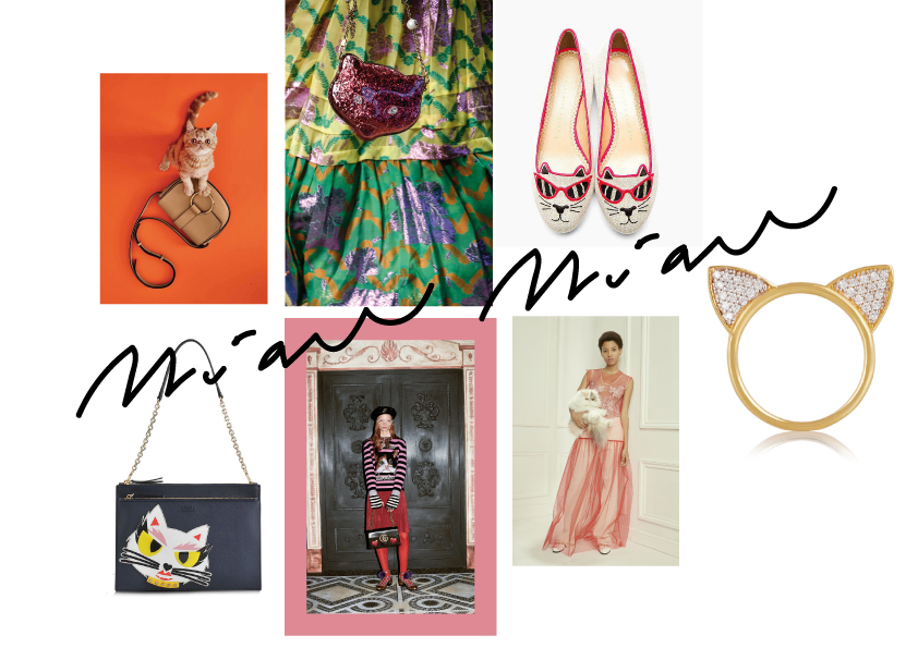 FROM TOP LEFT TO BOTTOM RIGHT: Coccinelle Summer 2016 Catalogue, Mini Bag Gucci Pre-Fall 2016, Charlotte Olympia sunkissed flats Kitty Cat ballerinas , Aurelie Biedermann gold ring with diamonds, Stella McCartney Pre-Fall 2016 Runway Look Book, Pre-Fall 2016 Gucci, chainbag from the Karl Lagerfeld Collection