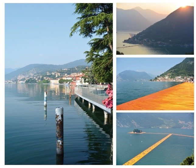 Christo, the floating piers at Lake Iseo