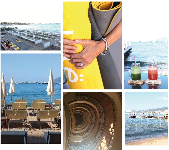 Yoga at the beach is possible almost all year round in Cannes, but when it is getting colder walking up the magical staircase of the Martinez is the best way to your Yoga class with Benny Barnabe , afterwards enjoy a smoothie by the beach. Perfect!