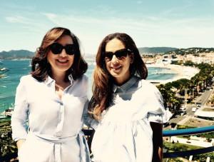 Raffaella Rossiello of Chopard and Jasmin Khezri of IRMASWORLD in Cannes.