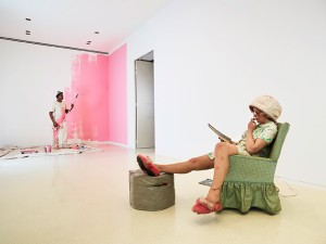 Above, top, background and bottom: House Painter I, 1984-1988 Above, top, foreground: Housewife, 1970