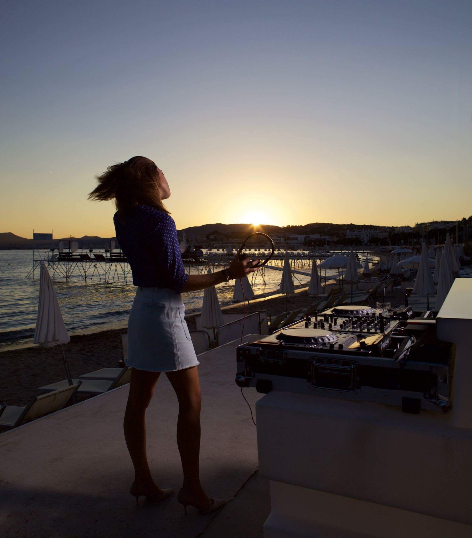 DJ Maggy Smiss at the Hôtel Martinez in Cannes this summer