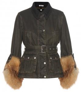 Miu Miu fur-trimmed jacket