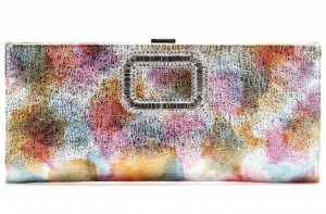 Roger Vivier Pilgrim small embellished leather clutch