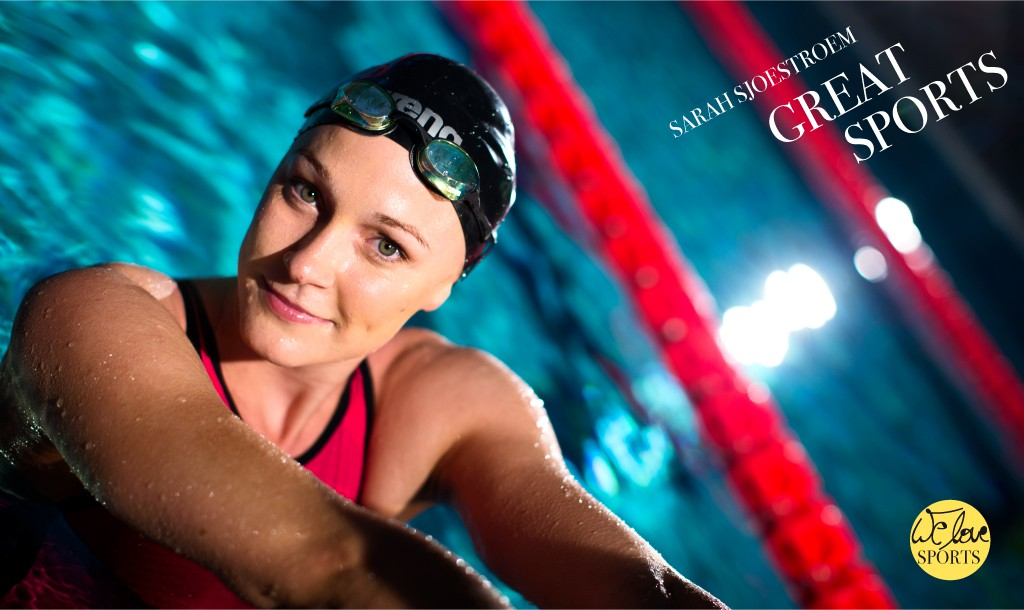 We love sports: A poolside chat with swimmer Sarah Sjöström