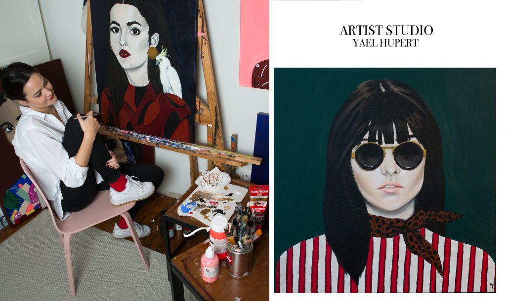 Visiting Yael Hupert at her Antwerp artist's studio