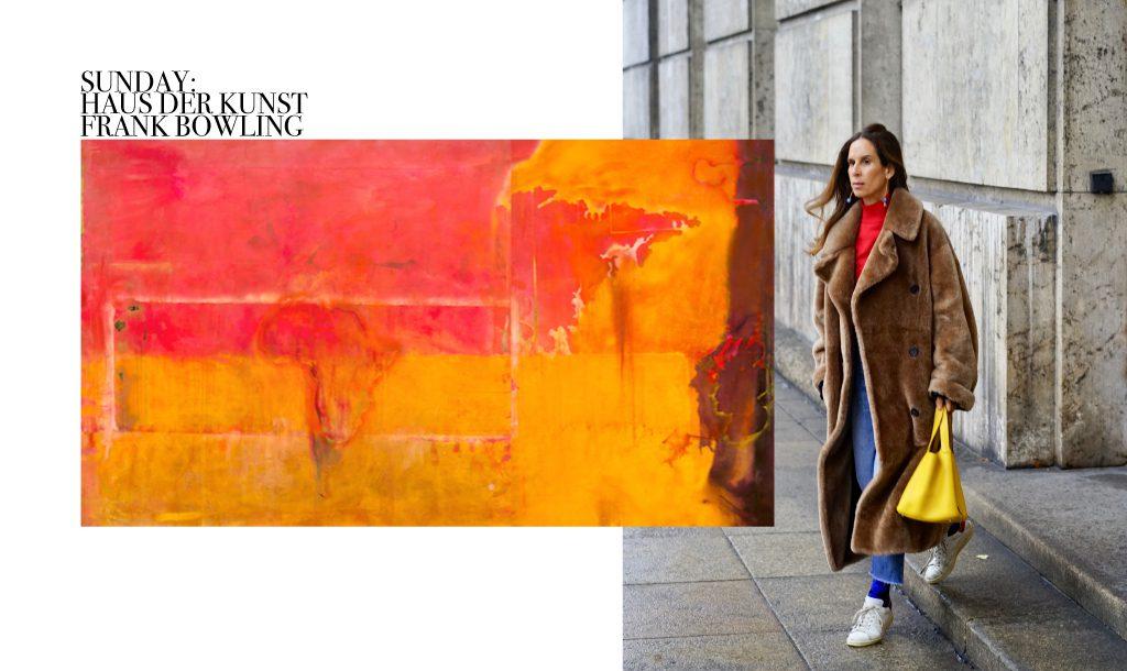 Sunday art walk, looking at Frank Bowling, Haus der Kunst