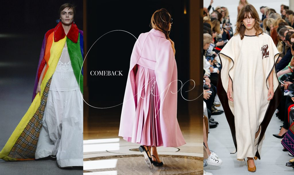 Capes before and after, a perfect farewell for Christopher Bailey