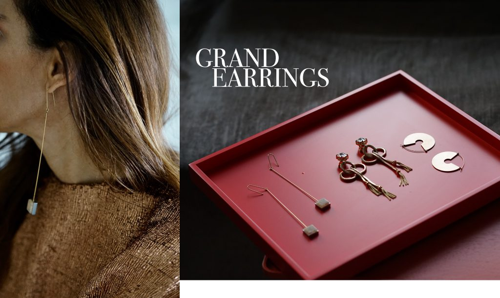 Statement earrings for day