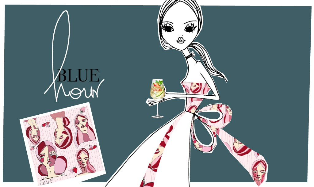 How does a French aperitif inspire you to wear a silk scarf?