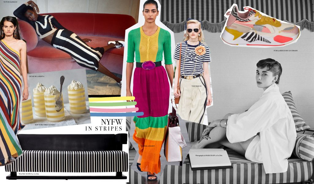 New York Fashion week comes in stripes