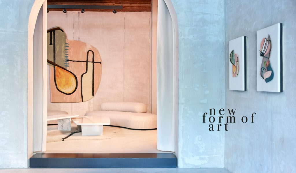 A new art form and a special showroom. Faye Toogood creates a special collection for cc-tapis