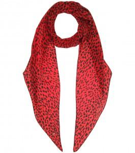 Yves Saint Laurent printed silk scarf