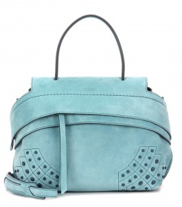 Tods Wave mini suede tote