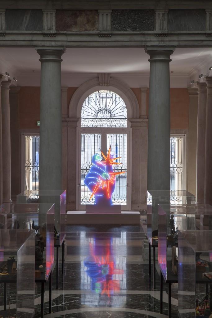 "Martial Raysse, ""America America"", 1964. Centre Pompidou - Musée national d'art moderne, Paris. Installation view at Palazzo Grassi 2015. ph: © Fulvio Orsenigo. © Martial Raysse by SIAE 2015"