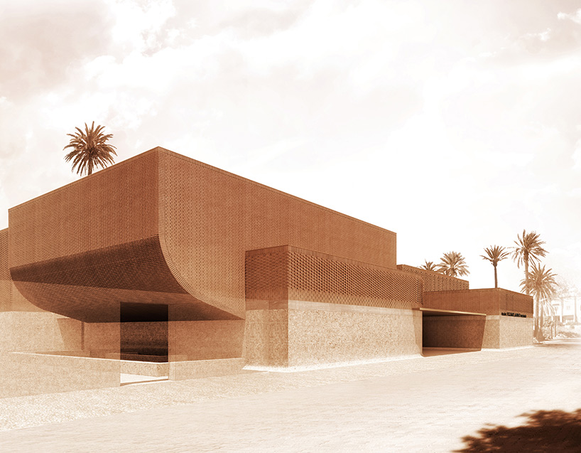 Model for the new Musée Yves Saint Laurent Marrakech. © studio KO, fondation pierre bergé – yves saint laurent via www.designboom.com